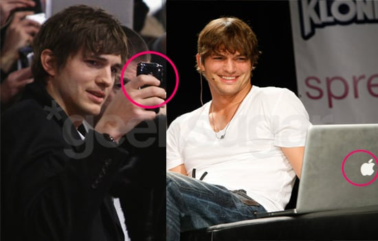 Tech Spotting: Ashton Kutcher Is an Apple Addict