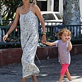 Halle Berry and Nahla Aubry kept cool in Summer clothes.