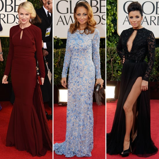 Golden Globes Long-Sleeved Dresses Trend 2013