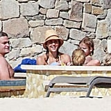 Jessica Alba Spends Bikini Pool Time in Cabo With Family
