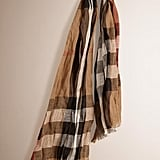 Burberry Check Linen Scarf (£195)