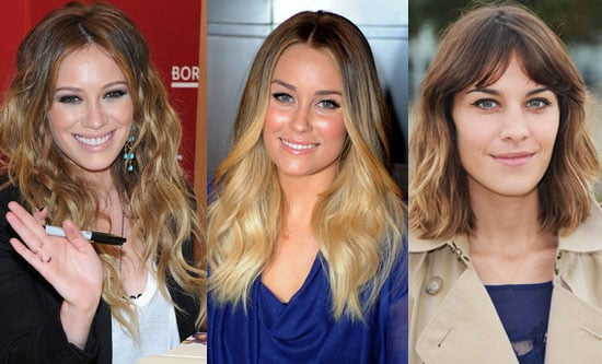 Alexa chung hilary duff and lauren conrad with ombre hair alexa chung hilary duff and lauren conrad with ombre hair highlights popsugar beauty australia junglespirit Images