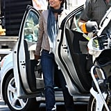Halle Berry on the LA set of The Hive.