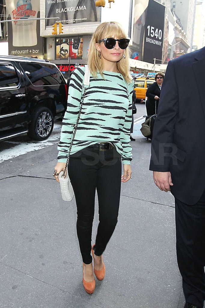 Nicole Richie continued a day of press in NYC.