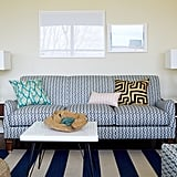 The blue-and-white palette makes pattern mixing easy.