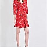 Claudie Pierlot Ring Star Print Crepe Mini Dress