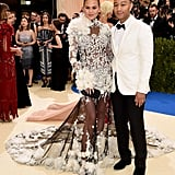 Chrissy Teigen and John Legend at the 2017 Met Gala