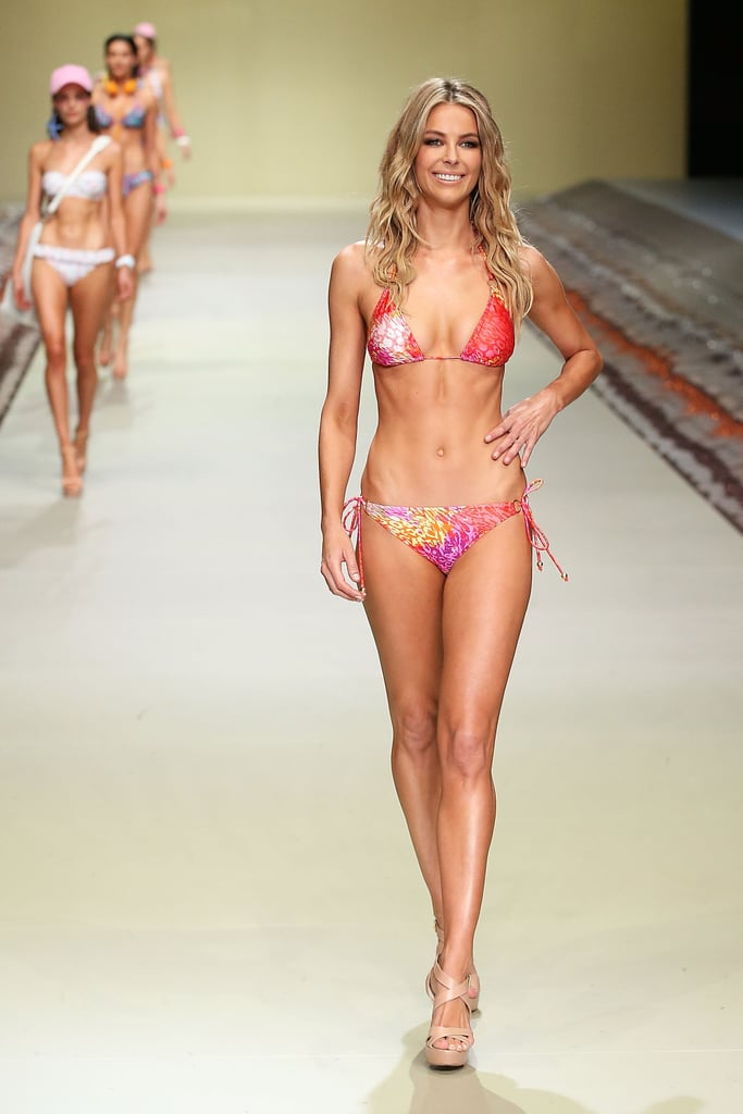 Showing off her brilliant bikini body, Jen looked a million bucks strutting the catwalk at the Myer Spring/Summer 2014 collections launch.