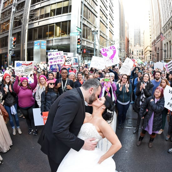 Chicago Couple Takes Wedding Photos at Women's March
