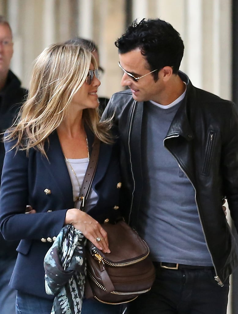 Jennifer Aniston and Justin Theroux Paris Pictures