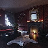 Booking.com's Addams Family House: Living Room