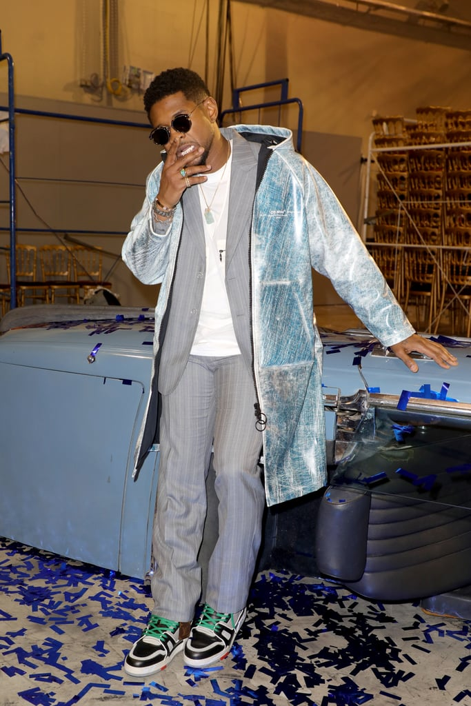 Usher at the Off-White Fall 2020 Show