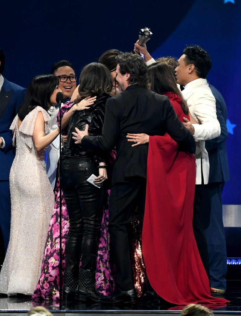Pictured: Michelle Yeoh, Ken Jeong, Harry Shum Jr., Gemma Chan, Constance Wu, Awkwafina, and Nina Jacobson