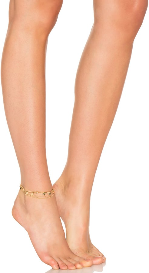 This Ettika Coin Anklet ($40) has a vibe that's easily dressed up or down.