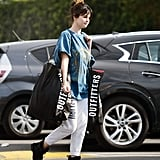 Selena Gomez Shopping at Urban Outfitters in a Sublime Tee and Sweatpants