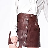 Veronica Beard Monroe Leather Cargo Skirt