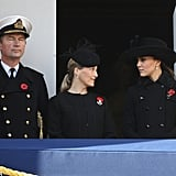 Kate Middleton and Sophie, Countess of Essex, watched the Remembrance Sunday parade.