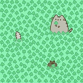 Pusheen 4-Leaf Clover Puzzle