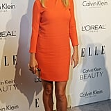 Love Gwyneth in sorbet-hued Calvin Klein.