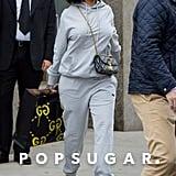 Rihanna Carrying Gucci Graffiti Handbag