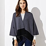 Loft Two Tone Poncho Wrap