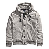 This H&M hooded jacket ($50) will keep your man styling to the gym and back.