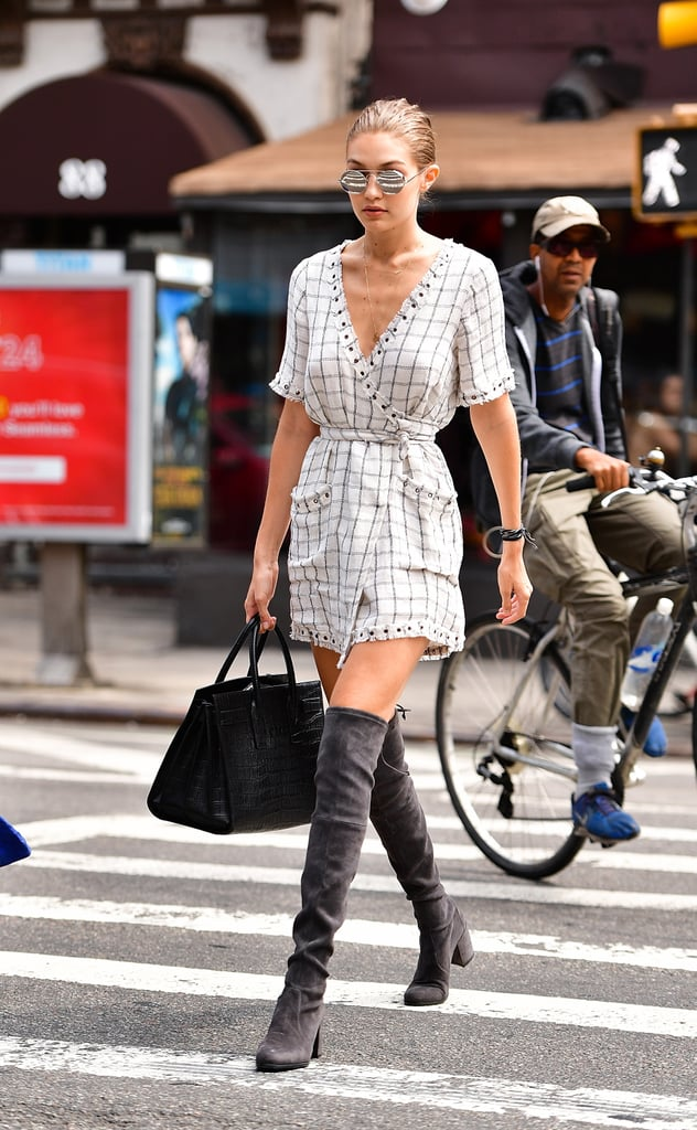 cheap for discount fashion quality design Gigi Hadid Wearing Stuart Weitzman Boots | POPSUGAR Fashion