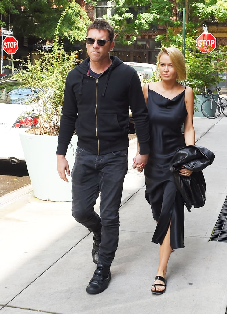 Lara Bingle and Sam Worthington Out to Lunch in New York, 2014