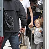Angelina Jolie was out with Knox Jolie-Pitt and Zahara Jolie-Pitt in London.