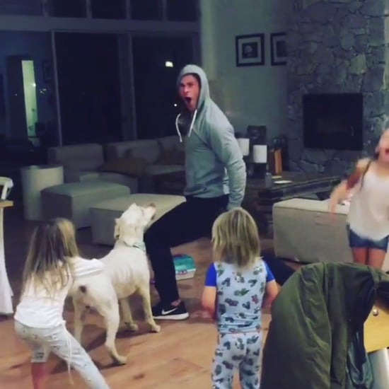 "Chris Hemsworth Dancing to Miley Cyrus's ""Wrecking Ball"""