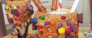 This Salted Caramel Pretzel Milkshake Has Everything You Want in a Dessert