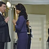 Scandal Stoney Westmoreland and Bellamy Young in the season premiere of Scandal.