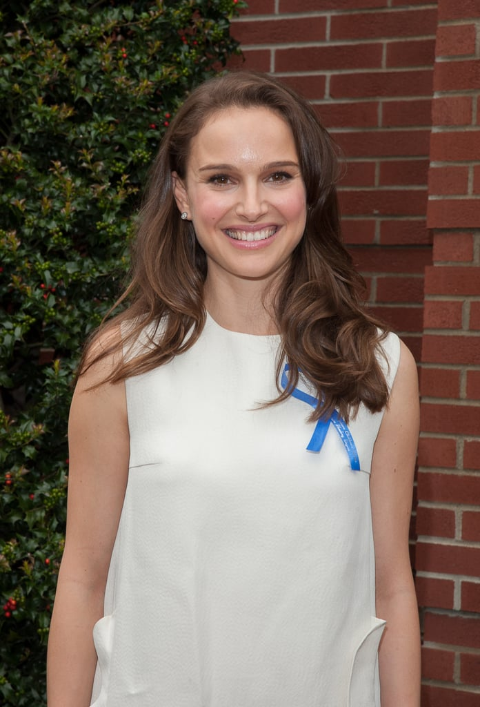Natalie Portman smiled during a visit to the Audrey Hepburn Children's House.