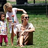 Heidi Klum went to an NYC park with Leni and Lou.