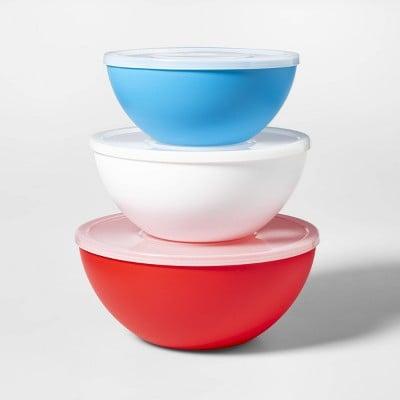 3pc Plastic Serving Bowls