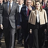 Queen Letizia's Layered Look
