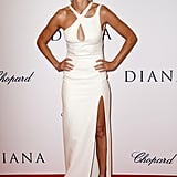 Naomi Watts wore a sexy white Versace gown.