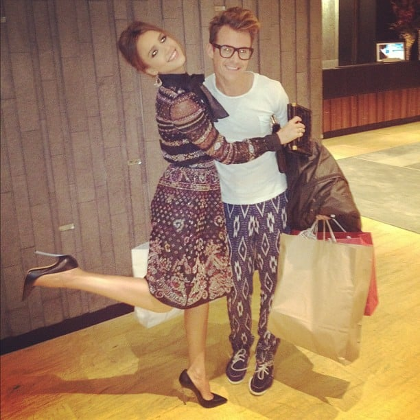 Jessica Alba hugged her pal (and stylist) Brad Goreski. Source: Instagram user jessicaalba