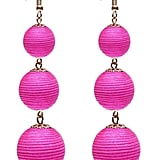 VK Accessories Thread Ball Dangle Earrings