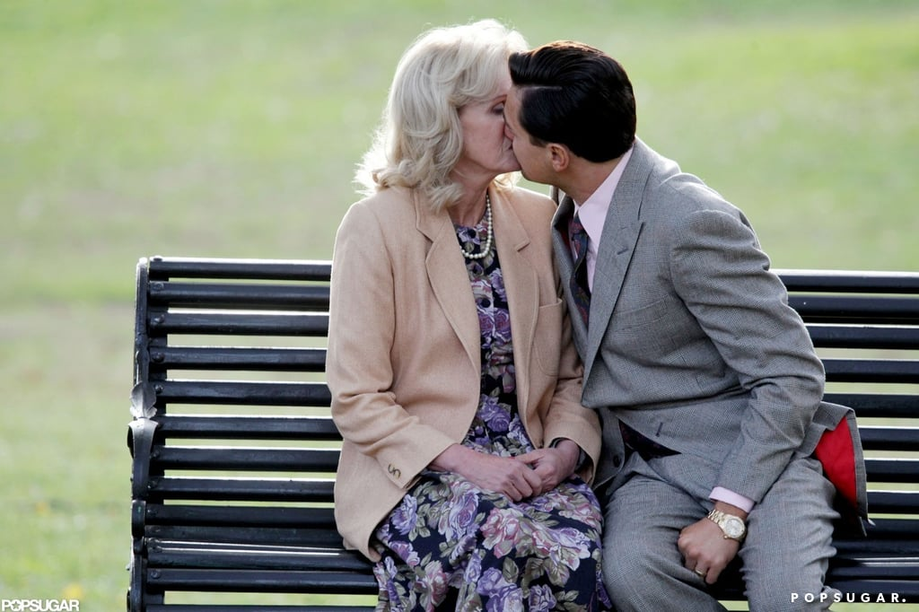 In November 2012, Leo locked lips with his Wolf of Wall Street costar Joanna Lumley while filming in NYC.