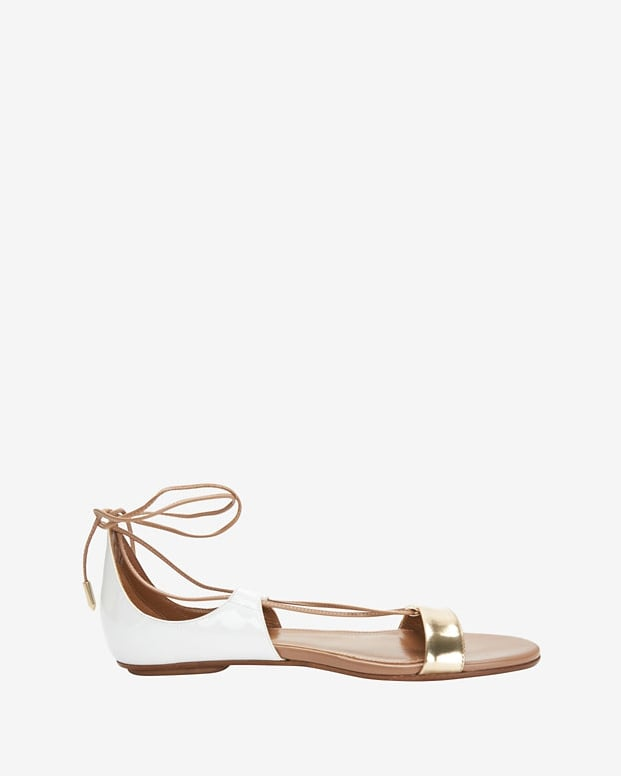 Aquazzura Lace-Up Flat Sandal