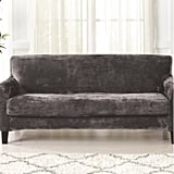 Velvet Plush Box Cushion Sofa Slipcover