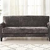 Velvet Plush Box Cushion Sofa Slipcover