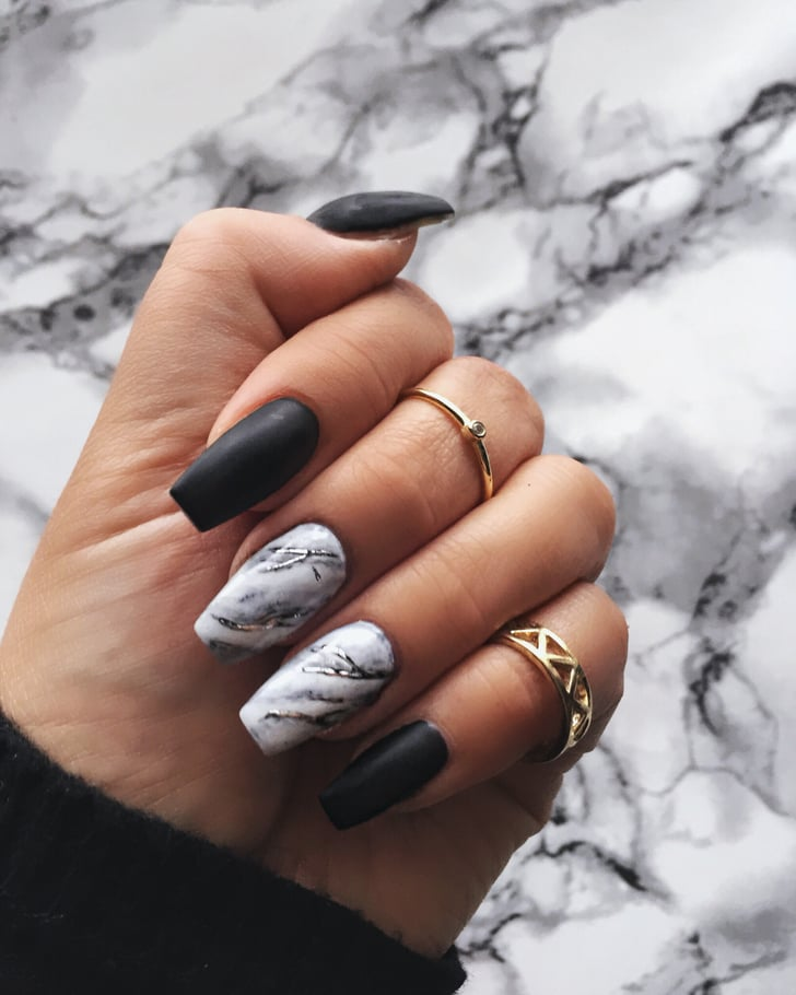Australia Marble Nails Pinterest 2018 Global Beauty Report Popsugar Beauty Photo 7