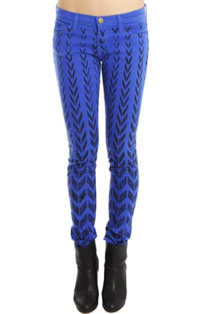 These Current/Elliott chevron cobalt jeans ($218) will give all your tees and tanks a shocking twist.