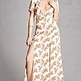 As does this Forever Nightwalker Floral Maxi Dress ($68) that features a thigh-high split.