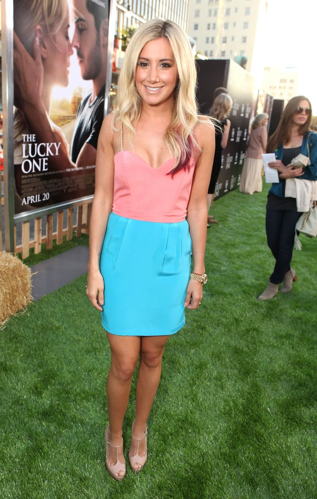 Ashley Tisdale looked adorable in a dress by Naven at The Lucky One premiere in LA.