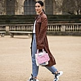 Basic denim looks infinitely more liven with trendy kicks and earrings to boot!