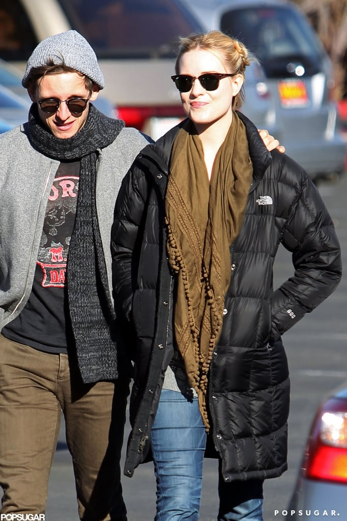 Evan Rachel Wood and Jamie Bell were smiling as they made their way to Whole Foods.