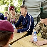 David Beckham chatted with the Security Personnel team.